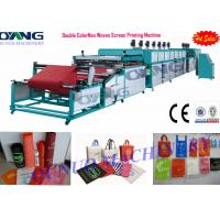 Quality Automatic roll to roll Non Woven Screen Printing Machine drying - collecting for sale