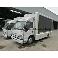 China ISUZU LED Display Mobile Advertising Trucks , Full Color LED Screen Truck on sale