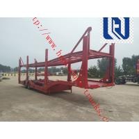 China 60T Manual Low Bed Trailer 3 Axles / Two single Trailer Truck on sale
