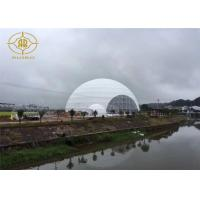 Quality Snow Load Geodesic Dome Tent Steel Structure For Fashion Show Exhibition for sale