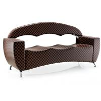 Quality Professional Custom Public Salon Waiting Room Bench PU Leather With High Backrest for sale