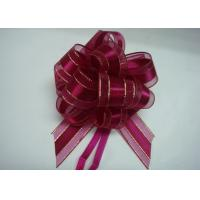 China Organza pull bow ribbon with Long Tulle Tails for Wedding Party Bridal Gift Wrapping on sale