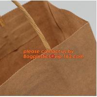 Quality Promotional paper bag in fancy paper and foil logo, Fashion gift paper bag with ribbon handle, Special handle design pap for sale