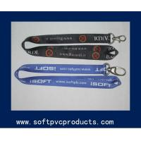 Best Multi Color Personalized Tube Polyester Lanyards , Single Layer Strap / Neck Lanyard wholesale