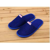 China Comfortable Cotton Velour Disposable Hotel Slippers , Terry Cloth Flip Flop Slippers on sale