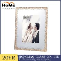 Quality Modern Glass Photo Frames , Glitter Surrouded Lighted 4x6 Glass Picture Frames for sale