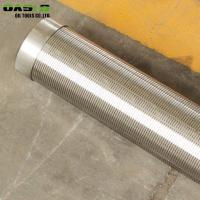 Quality Welded  End Wire Wrapped Well Sand Screen , Self Cleaning Well Casing Wedge Wire Mesh for sale