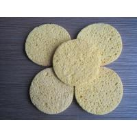 Quality Cellulose Facial Sponges with  Comfortable Wood Pulp Fibers Different Shape Thick for sale