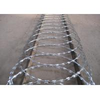 Quality High Security Powder Coated Barbed Wire Fence For Express Highway Guardrails for sale