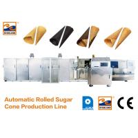 Quality CE Certified Automatic Sugar Cone Production Line With Fast Heating Up Oven , 63 Baking Plates Ice Cream Cone Productio for sale