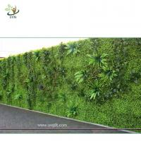 Best UVG green leaf artificial grass wall with high imitation plants for outdoor decoration GRW01 wholesale