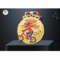 65x4mm Children Banlance Bike Medals In Colors Painting for sale