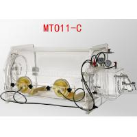 China Transparent Table Top Lab Glove Box , Portable Glove Box System 800*550*600mm Size on sale