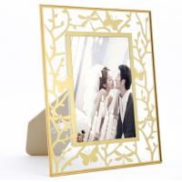 Quality Beautiful Brass And Glass Picture Frame For Living Room Bedroom for sale