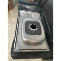 Quality Morocco hot sale polish single bowl with drainboard stainless steel kitchen sink 90*50CM for sale