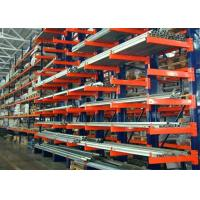 China Double Side Structural Cantilever Pallet Racking , Warehouse Storage Racking Systems on sale