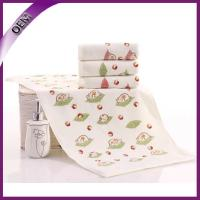 Quality 100% cotton velour pinting cotton face towel for baby for sale