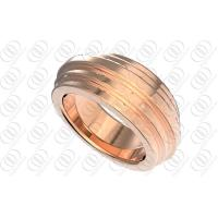 Quality 14K Rose Gold Wedding Rings Jewelry OEM / ODM Fashion Design for sale