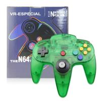 Quality Clear Green N64 Game Controller Classic Wired Gamepad Joystick Plastic Material for sale