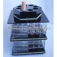 China Tabletop Lipstick Acrylic Display Case Cosmetics Store Rotating Acrylic Display Stand on sale