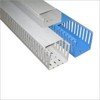 Quality Installation Square PVC cable trunking / duct with  high impact resistance for outdoor for sale