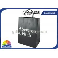 Best Custom Brand Logo Printing Stylish Paper Carrier / Paper Shopping Bags With Handles wholesale