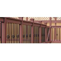 China Brown Wood Plastic Composite Deck Railing With No Toxic Chemicals / Preservatives on sale