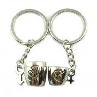 Quality Custom Design Promotional Metal Keyrings For Couple Gifts Low Minimum for sale