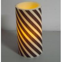 Quality 4 × 6 PP LED pillar candles with timer , Party Rechargeable LED Candles for sale