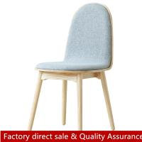 China Nordic Minimalist wood fabric chair for restaurant hotel scandinavian new design wood dining chair modern wood chair on sale