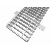 Quality Hot Dip Galvanized Steel Grid Mesh Floor Serrated Bar Grating With Frame for sale