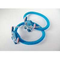 Quality Custom lovely blue cute hair bands with rabbits dogs animal shape flexible hair bands for children little baby for sale