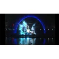 Quality Creative Outdoor Digital Laser Water Screen Curtain , Laser Water Fountain Movie for sale