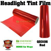 Quality Car Headlight Tint Film 3 layers 0.3*10m/roll - Red for sale