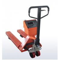 China OEM Mild Steel Pallet Jack Weight Scale , Red Hand Pallet Truck With Scale on sale