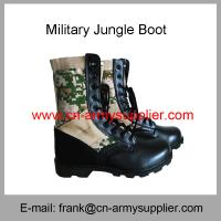 China Wholesale Cheap China Split Leather Rubber Sole Camouflage Military Jungle Boots on sale