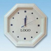 Buy cheap 14.5-inch Octagonal Wall Clock with Plastic Case from wholesalers