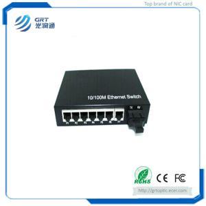 Quality Beijing GRT 10/100/1000M Ethernet  7-RJ45 Port Single/Multi Mode Fiber Optical Media Converter for sale