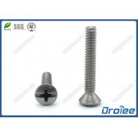 China 304 / 18-8 Stainless Steel Philips Slotted Oval Head Machine Screws on sale