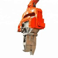 Quality No Damage Hydraulic Pile Hammer High Frequency Excavator Mounted Vibratory Hammer for sale
