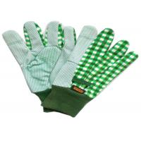 Quality Gardening Working Cotton Drill Gloves Beautiful Patterns With Knit Wrist for sale