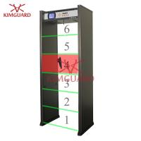 Quality Pinpoint Digital walk through Metal Detector / Exhibition Security Check Body Metal Detectors for sale