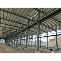 Fire Resistance Steel Structure Workshop With Grey Or Blue Color Steel Claddings