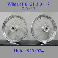 Quality Professional Chrome Spoke Motorcycle Wheels High Strength Impact - Resistant for sale