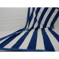 Quality Factory Supply 100% cotton Yarn Dyed Jacquard Heavy Blue Stripe Pool Towel for sale