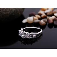 Quality Shining Cubic Zircon Crystal Wedding Rings for Female for sale
