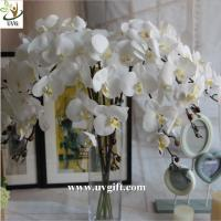 Best UVG White real touch PU orchid artificial flower wholesaler for latest wedding decoration wholesale