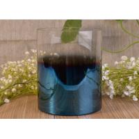 China Vertical Wedding Decoration Glass Candle Jars With Iridescent Ombre Electroplated on sale