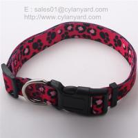 Quality Adjustable dog collar to prevent from too tight, sublimation ribbon pet collars, for sale