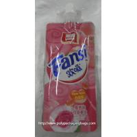fruit shape packaging pouch reseable stand up pouch packaging bags with spout juice drink plastic spout pouch